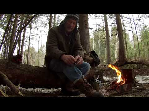 March 2 2018 Ontario woods campfire lunch