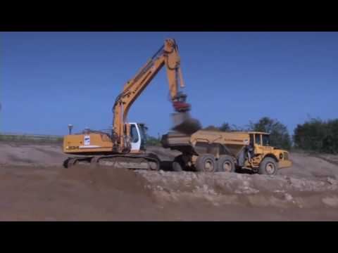 Powerful Extreme Earth Moving Machines In Action  Lehnhoff Attachement and Quickcouplers