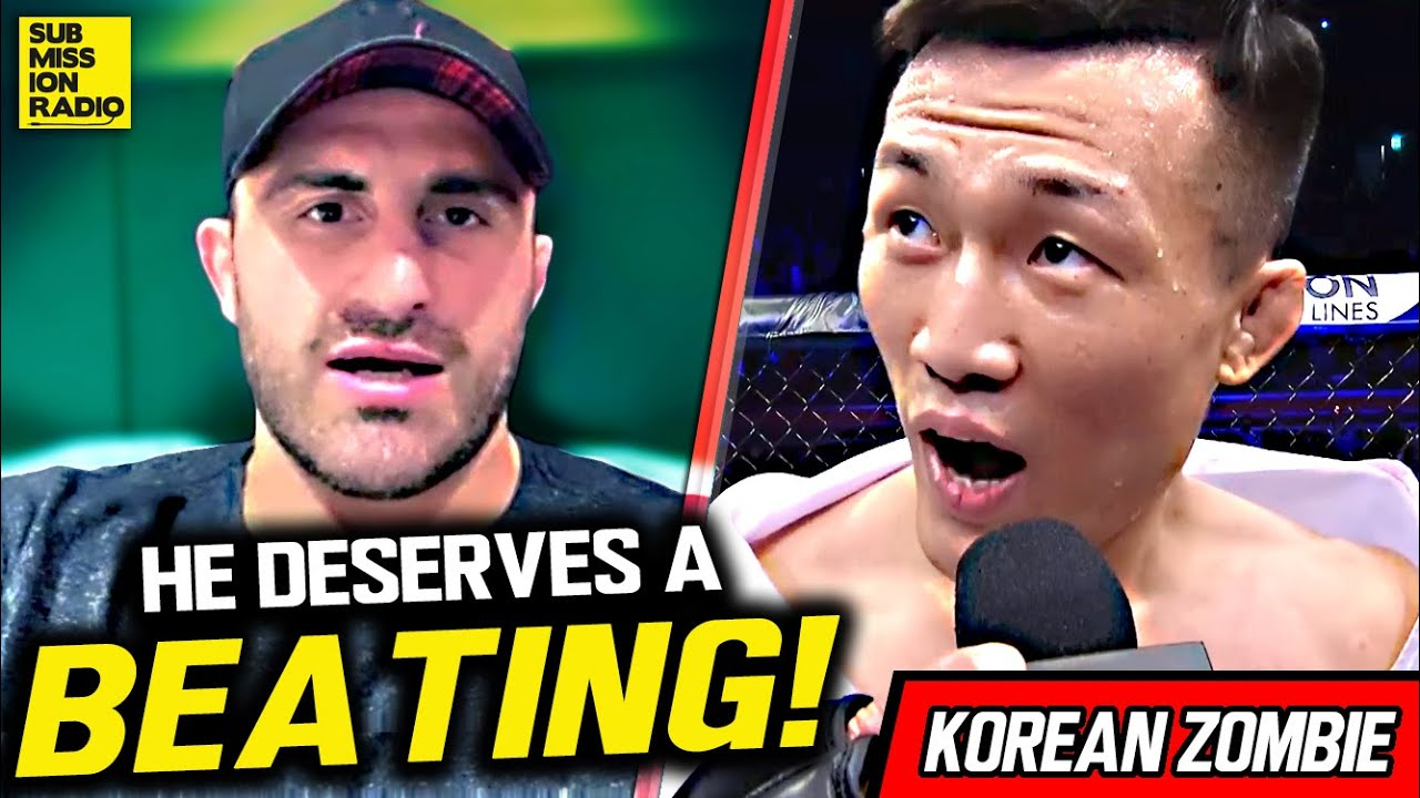"Alex Volkanovski: Korean Zombie ""Deserves a Beating"" For ""Running His Mouth"""