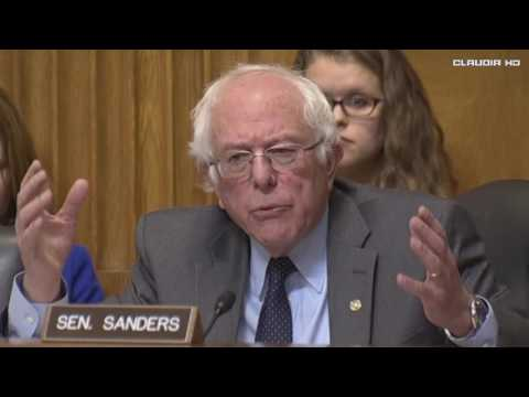 Bernie Sanders Grills Scott Pruitt on Climate Change at Confirmation Hearing 1/18/17