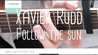 how to play follow the sun xavier rudd | guitar lesson