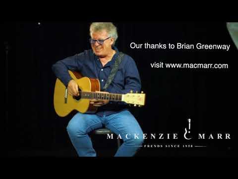 Brian Greenway plays a MacKenzie & Marr guitar in open E