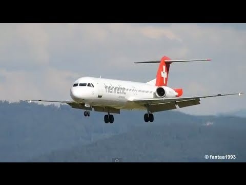 Close Approach Angle! || Fokker 100 (with ATC) HD