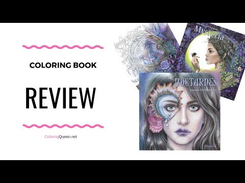 Nocturnes  Coloring Book Review | Mysteria | When Dragons Dream – Anastasia Elly Koldareva