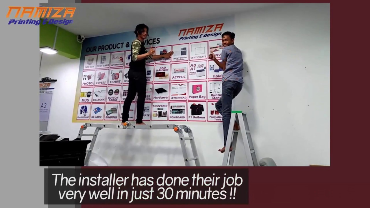 print and install wall sticker 1440dpi uv matt youtube print and install wall sticker 1440dpi uv matt