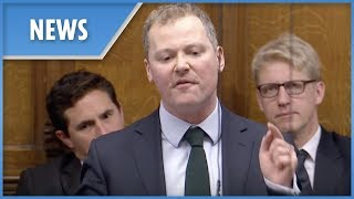 MP Neil O'Brian attacks the Labour benches during PMQs