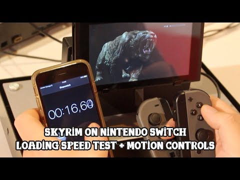 Skyrim on Switch] Loading speed test + motion controls - YouTube