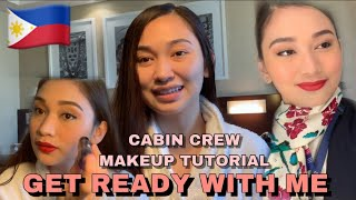 GET READY WITH ME + CABIN CREW MAKEUP TUTORIAL