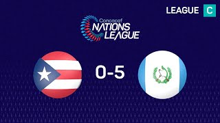Resumen: Guatemala venció 5-0 a Puerto Rico
