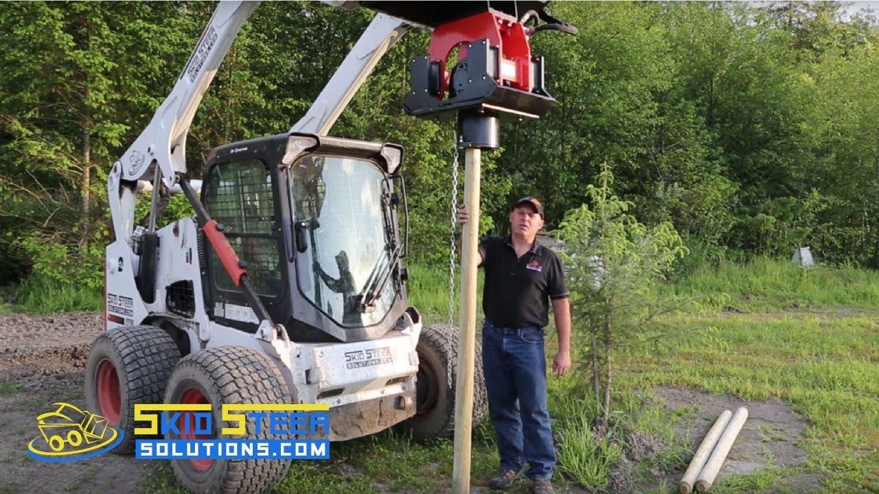 Skid Steer Solutions Eterra Tremor Vibratory Post Driver