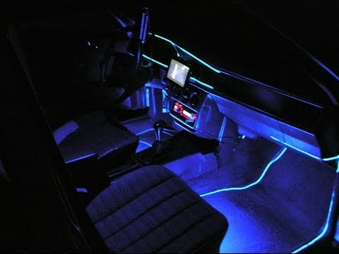 Neon Tubes With Wire Rope Flexible Neon Light In Mercedes Benz 190d