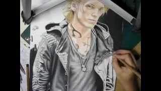 Jamie Campbell Bower as JACE in THE MORTAL INSTRUMENTS - Time lapse/Speed Drawing