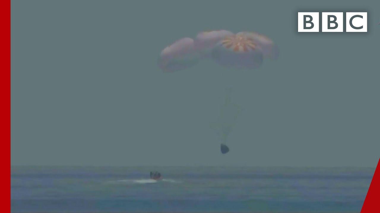 SpaceX splashdown 💦 @BBC News @NASA - BBC