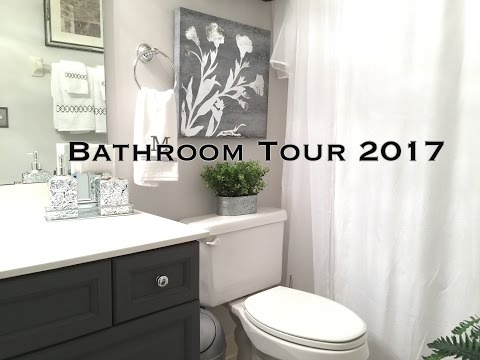 Bathroom Decorating Ideas & Tour on a budget
