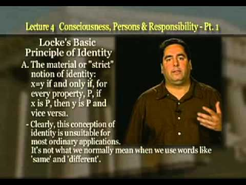 Introduction to Philosophy: Lecture 4 - Consciousness, Persons and Responsibility