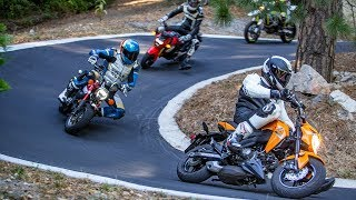 Mini Moto Madness: Honda Grom vs Kawasaki Z125 Pro vs Honda Monkey - On Two Wheels