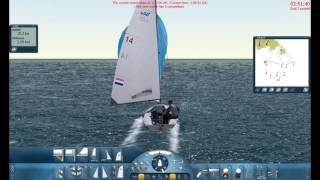 Sail Simulator 5 sailing the 470 boat with 7bfr wind.