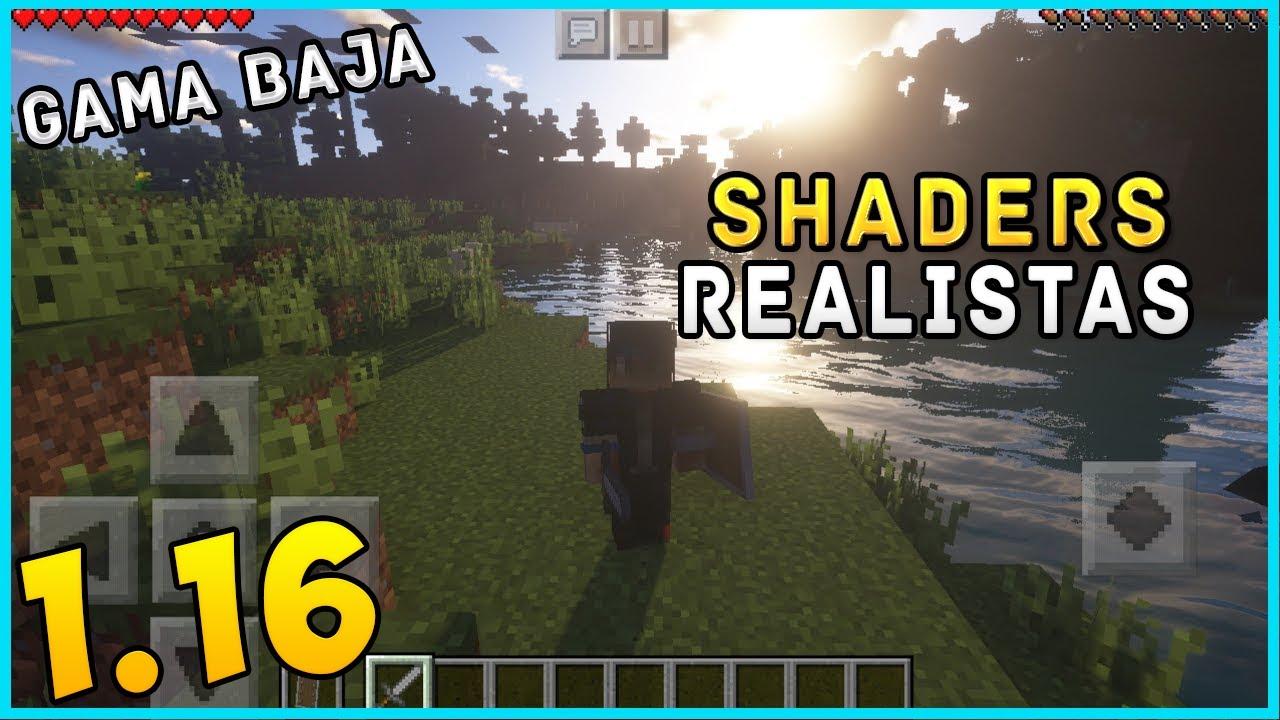 SHADERS REALISTA PARA Minecraft PE 1.16 OFICIAL! Shader realista para Gama Baja! ABC Shaders!