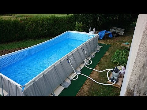 piscine tubulaire ultra silver rectangulaire 7 32 x 3 66 x 1 32 m - intex