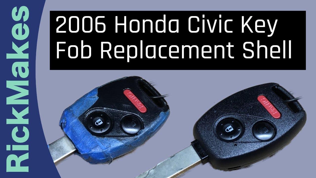 Honda Civic Key Replacement >> 2006 Honda Civic Key Fob Replacement Shell