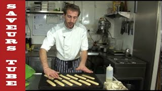 SAVEURS HOW TO MAKE CHOUX PASTRY WITH FAMOUS FRENCH CHEF JULIAN PICAMIL DARTMOUTH UK.
