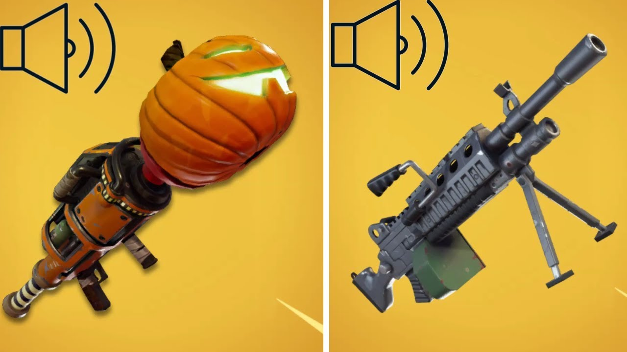 ALL FORTNITE WEAPONS SOUND EFFECTS
