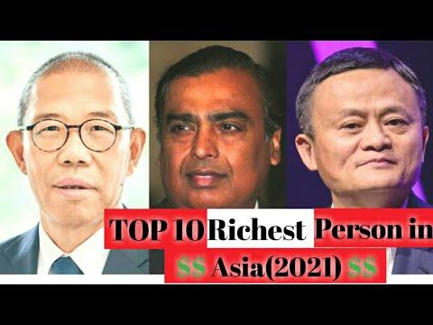 Top 10 Richest Person in Asia  2021 Jackma Mukesh Ambani Zhong Shanshan WT10[Updated]