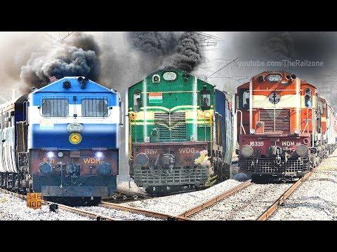 ALCO's wont Stop SMOKING | Diesel Locomotives | Indian Railways