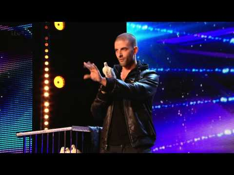 Видео: Britains Got Talent S08E02 Darcy Oake Jaw Dropping Dove Illusion