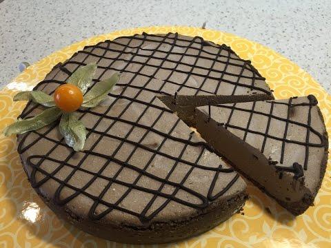 Диетический шоколадный чизкейк из ряженки (с выпечкой).