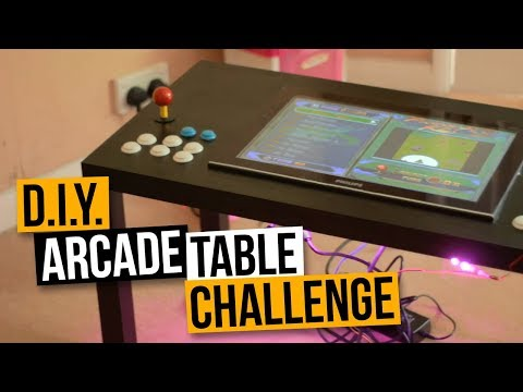 D.I.Y. ARCADE TABLE CHALLENGE PART #1 –  MAME COFFEE TABLE ARCADE MACHINE BUILD