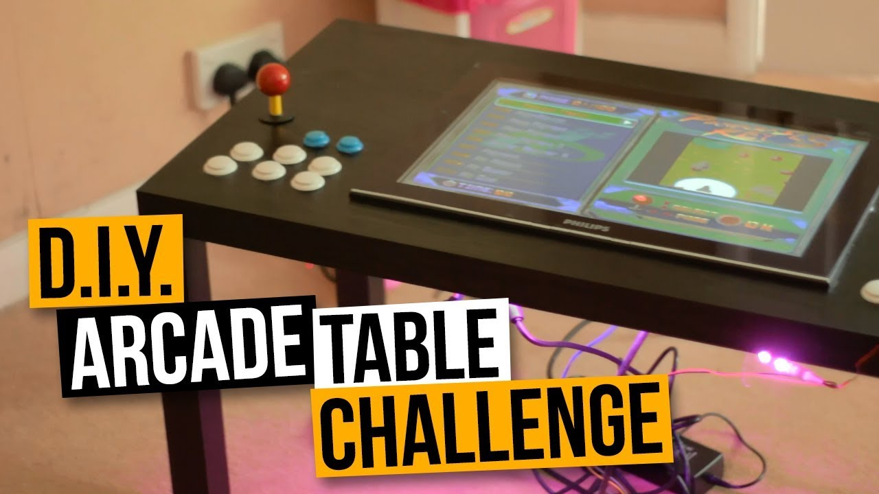 D I Y Arcade Table Challenge Part 1 Mame Coffee Table Arcade