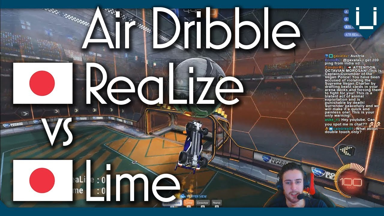 ReaLize vs Lime  Unlimited Boost Air Dribble Only 1v1  YouTube