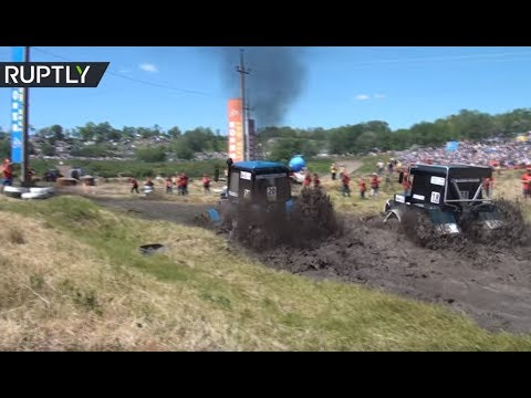 A day at the tractor race: Out-of-the-ordinary competition takes place in Russia's Rostov Region