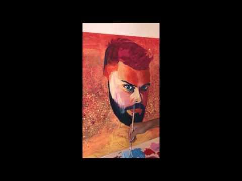 Virat Kohli - Acrylic on canvas