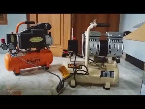 Review Kompresor listrik Matrix Oiles (tanpa oli)  Vs Essen (pakai OLi)