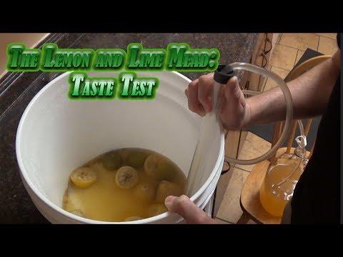Lemon and Lime Mead: Tasting!