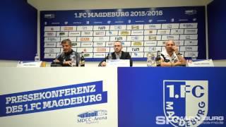 Pressekonferenz - 1. FC Magdeburg gegen FC Energie Cottbus 2:2 (0:0) – www.sportfotos-md.de