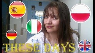 THESE DAYS 5languages Polish Italian Spanish German English Rudimental Macklemore Jess Glynne AsineD