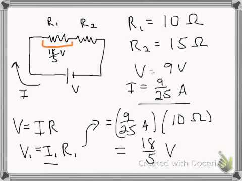 Voltage Drops in a Series Circuit - YouTube