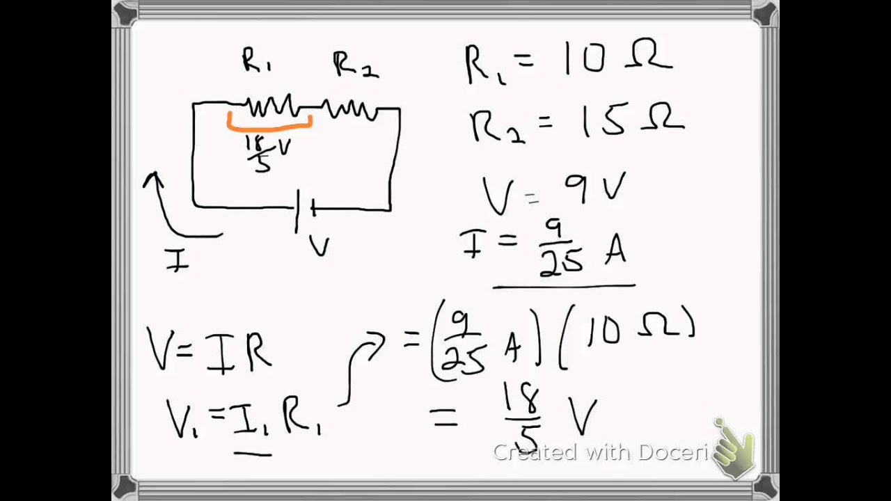 voltage drops in a series circuit