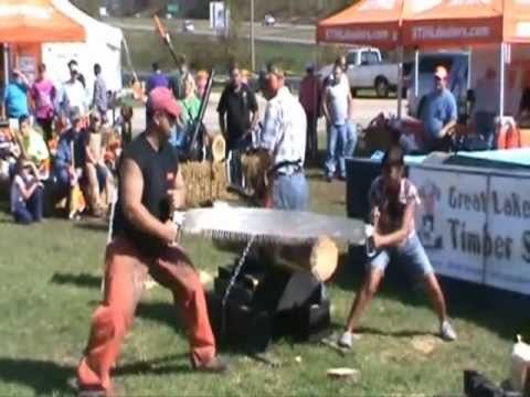 Chainsaw Loses Race Against Crosscut Saw