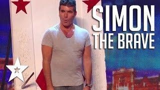 11 Year Old Throws Knives At Simon Cowell on Britains Got Talent | Got Talent Global