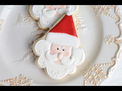 Santa Cookies Decorated With Royal Icing Haniela S