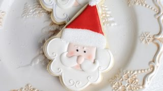 Santa Cookies Decorated With Royal Icing, Haniela's