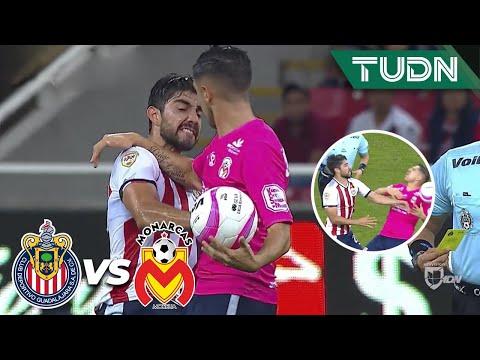 Expulsión para Pizarro por un manotazo a Valdés