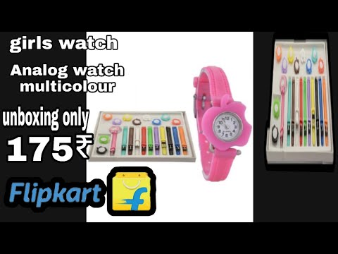 Girls Watch Mulitcolour Unboxing Only 175₹ By Flipkart All Product Unboxing   11 Belt Analog Watchs