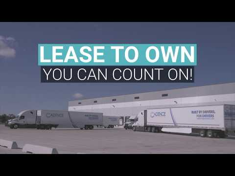 Lease to Own with Cadence Premier Logistics - we're hiring Drivers!