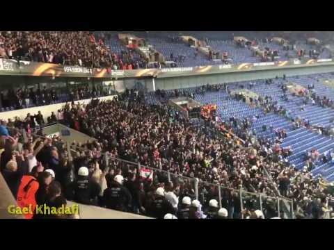 """Respect!⚫AFC Ajax Fans singing """"Three Little Bird"""" By : Bob Marley⚫So beautiful!"""