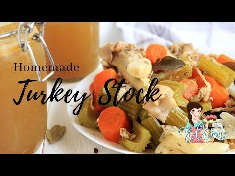 Thanksgiving Turkey Stock From Scratch Recipe | Turkey Bone Broth